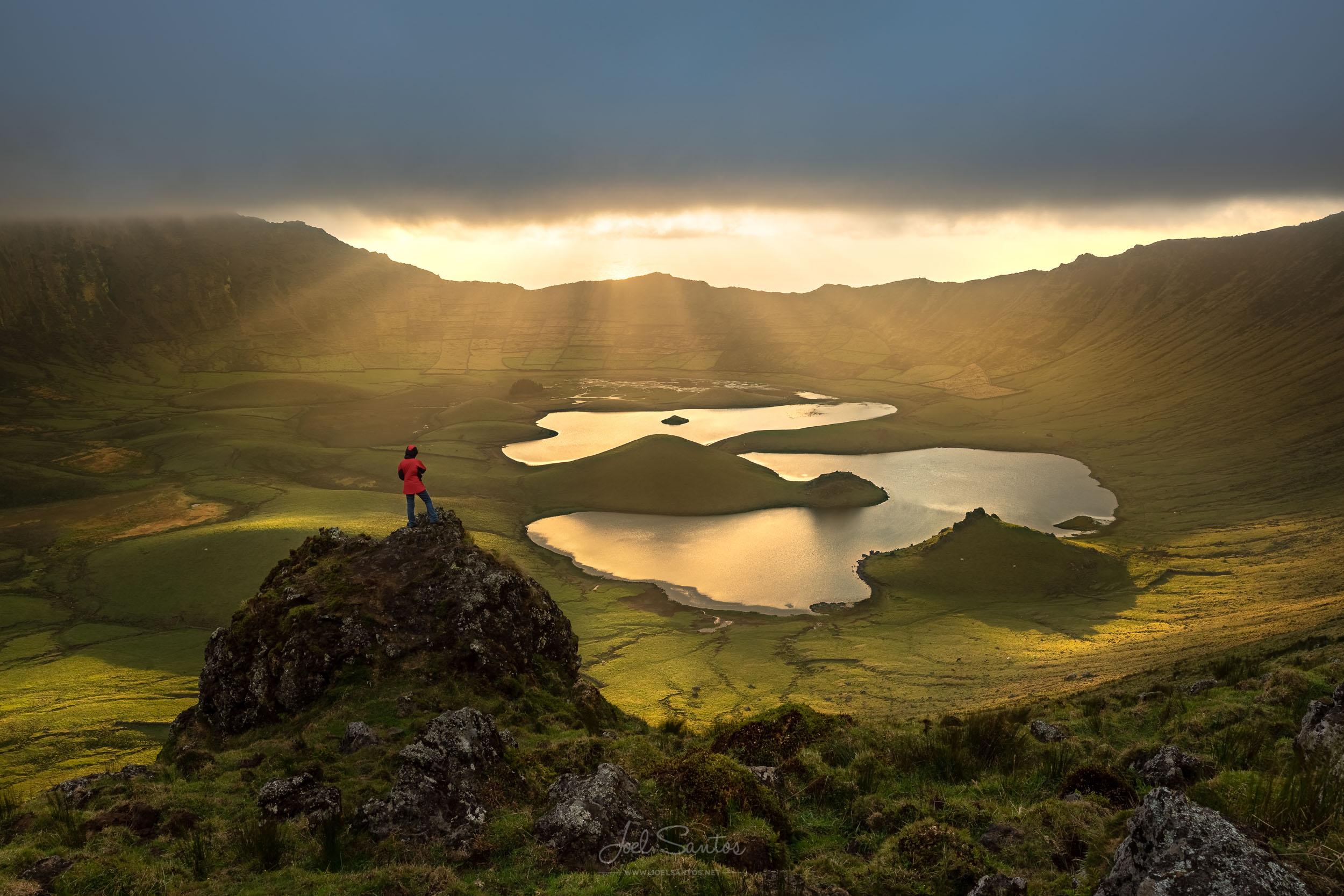 Caldeirão do Corvo, Corvo Island, Azores, Portugal