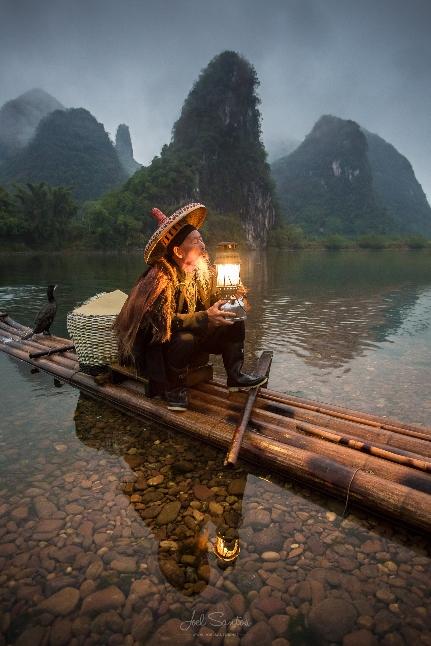 Cormorant Fisherman, Li River, Guangxi, China