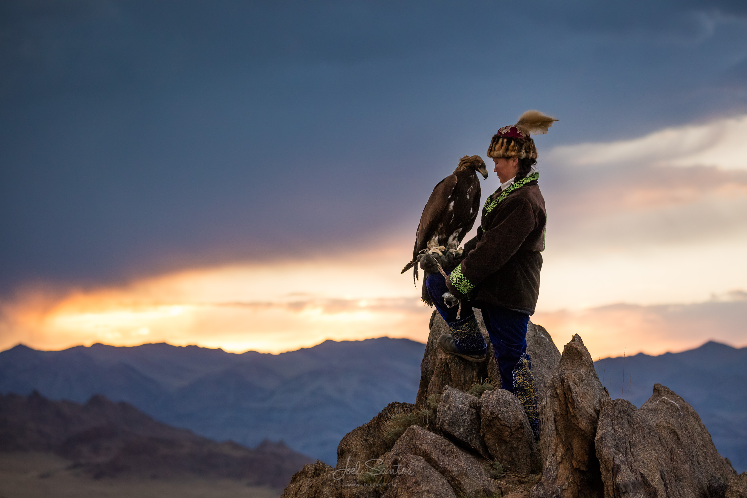 Aishol Pan at age 14, Eagle Huntress, Altai, Western Mongolia