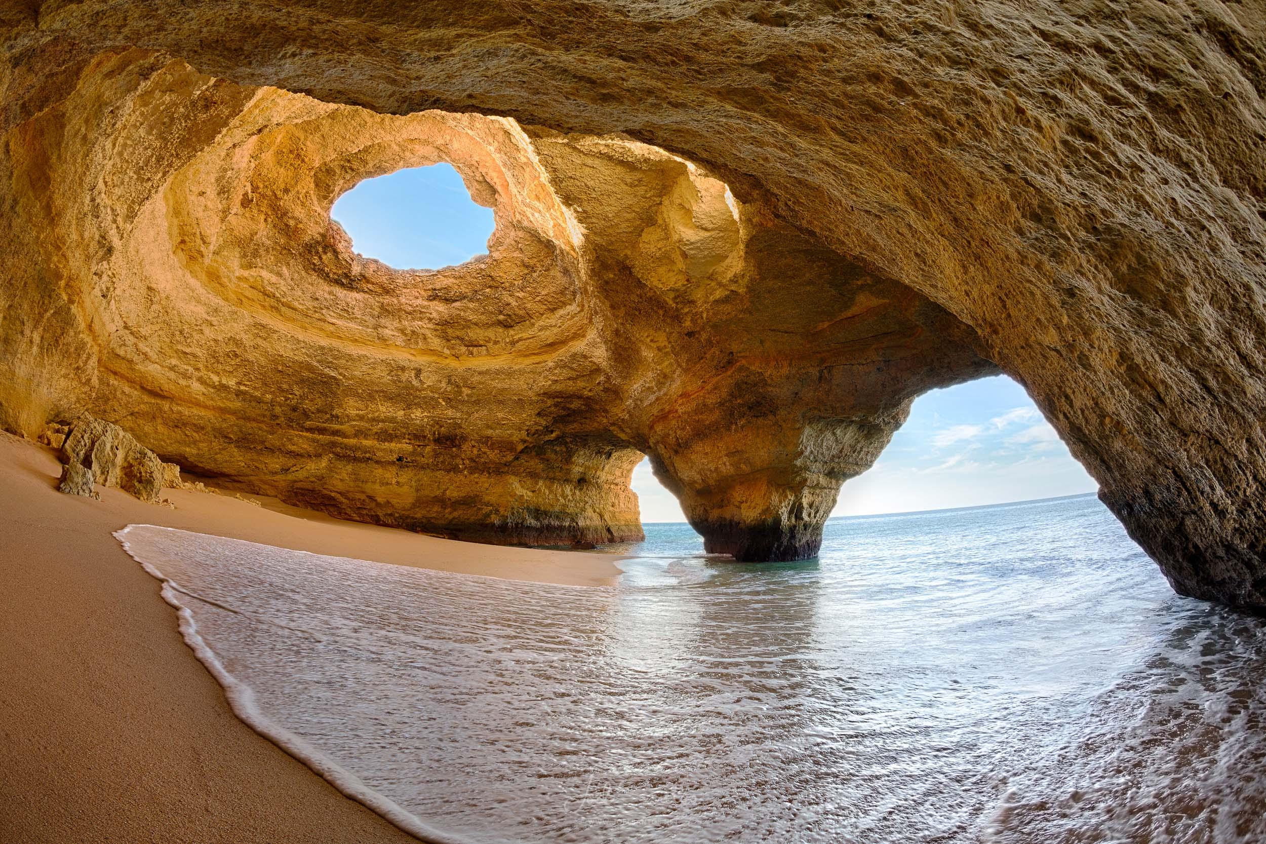 Benagil oceanic cave, Atlantic Ocean,  Algarve, Portugal