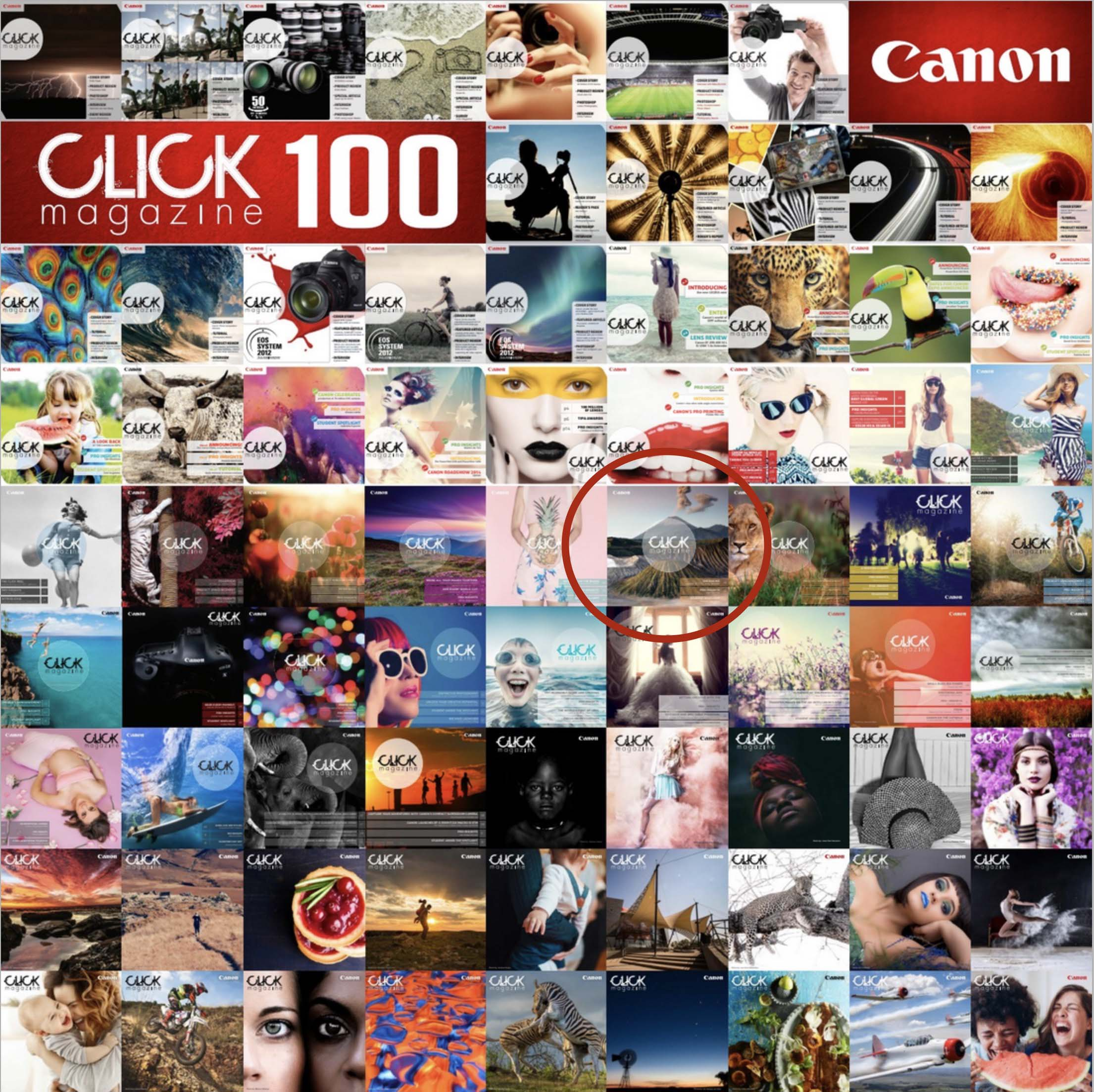 100th issue of Click Magazine - Cover