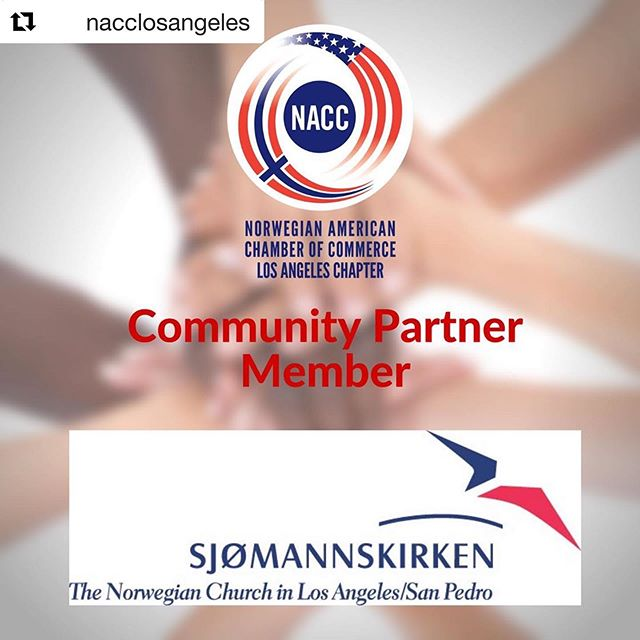 "#Repost @nacclosangeles ・・・ #NewMemberAlert! We are proud to announce the Norwegian Seamen's Church Los Angeles / San Pedro as our first Community Partner Member!  For over 75 years, the church in San Pedro has been a pillar for the Norwegian community, and for years it has also been the home of the Swedish Church in LA.  The church is located 30-40 minutes from Santa Monica and Hollywood. They offer weekly Sunday Service, a variety of activities for young and old, coffee, Norwegian waffles, Norwegian ""risengrynsgrøt"" (rice porridge) every Saturday, lots of Norwegian food, candy and artifacts in their store, a nice outdoor area and playground, and a swimming pool where kids of all ages can enjoy themselves on sunny days. And, their language classes in Norwegian start up again shortly!  Sjømannskirken – Norwegian Church Abroad, is a non-profit organization with a commission from the Parliament to serve Norwegians abroad. 28 churches serve as social and cultural meeting places for around 700.000 annually. In addition  chaplains cover around 80 countries visiting Norwegian communities and students. Norwegian oil installations in the North Sea are also frequently visited by chaplains. 🇺🇸🇳🇴"