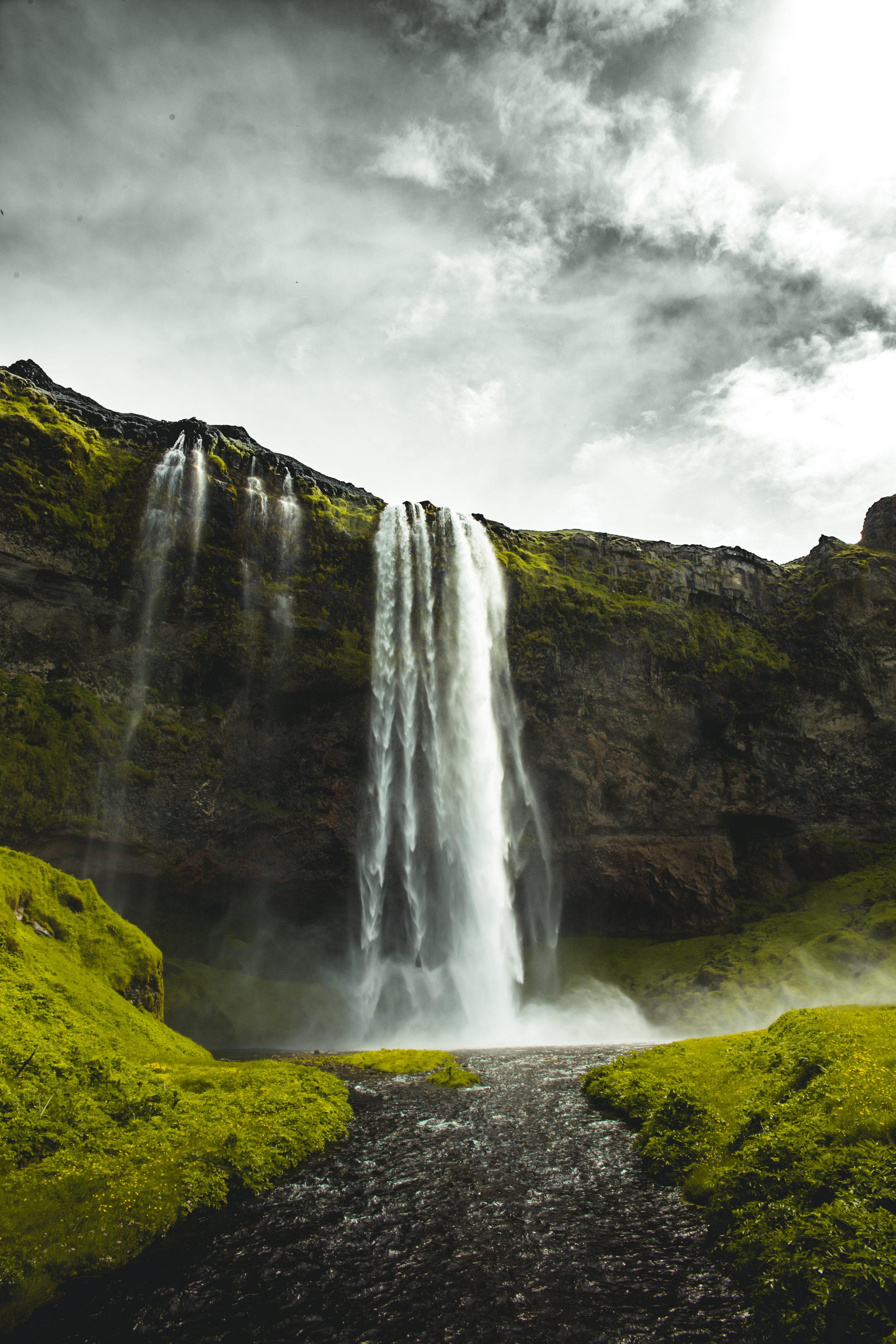 "Seljalandfoss   (Example of ""Monster Waterfall"")  ISO: 100 Focal Length: 24mm  Aperture: f/13 Shutter Speed: 1/80"