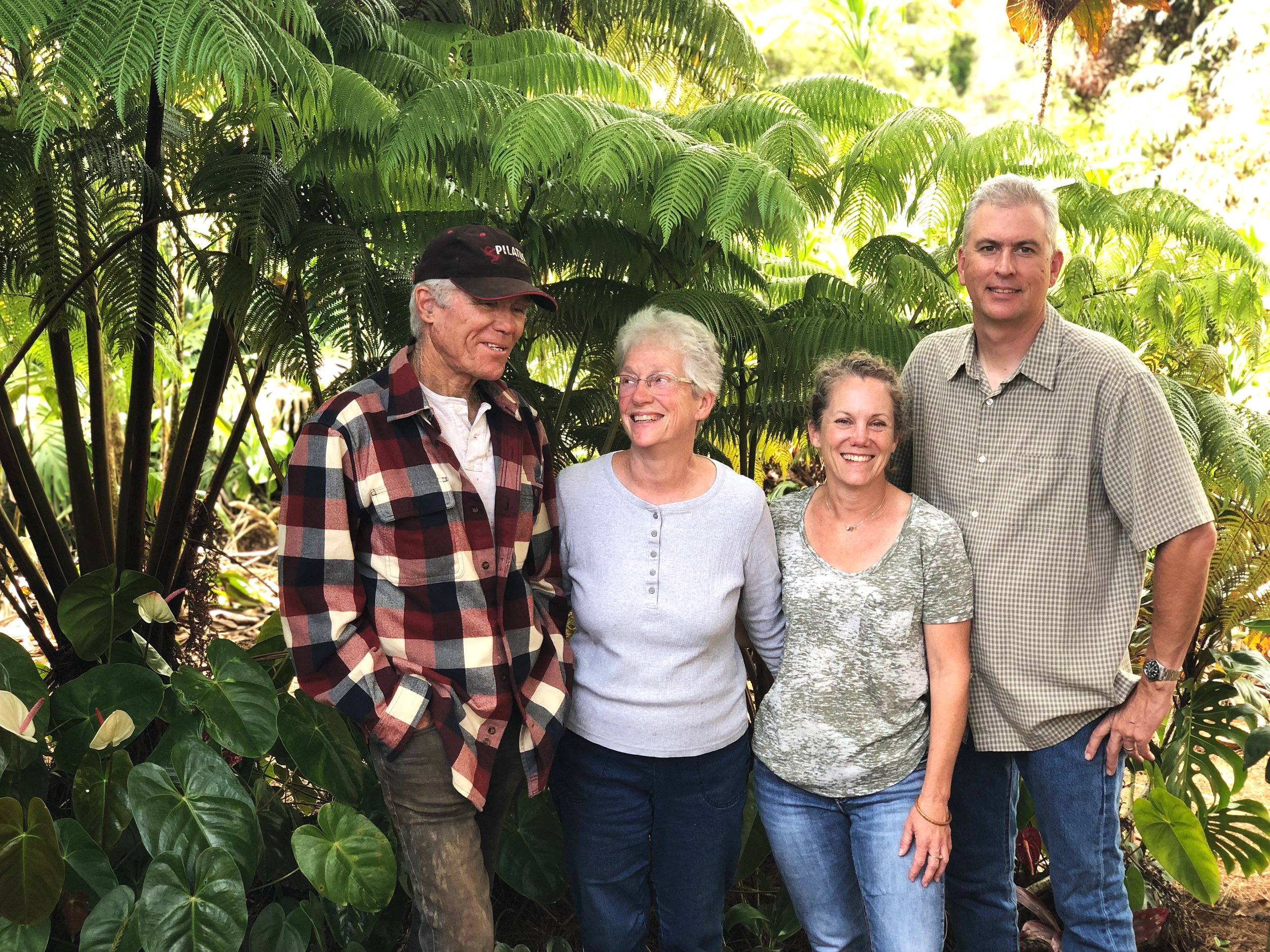 The family behind Always Anthuriums: (L-R) Founders Jim & Norma Watt, and their daughter and son-in-law Heidi and Brad Gingrich.