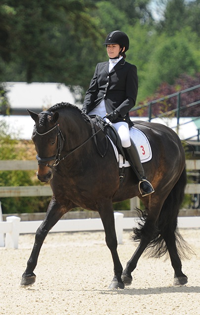 Five Winds Prince Sahara . Owned and ridden by Alana Hilton, Sahara was the 2018 Champion in Second Level Dressage in British Columbia. Photo: Totem Photographics