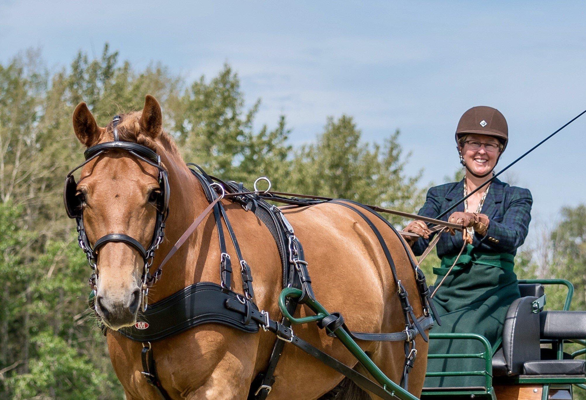Patty Carley  and  El Passo Nobell Texel.  Photo: Rick Kroll.