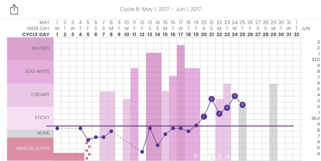 Here's a chart while I was travelling in Europe for 3 weeks. I was able to confirm ovulation even while I was on the road!