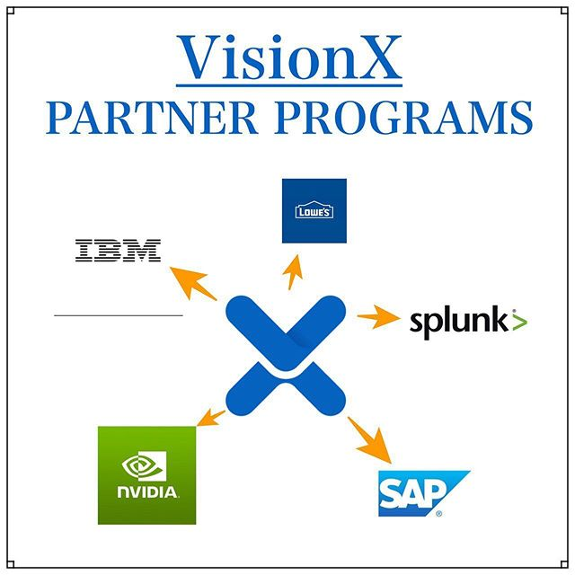 Here's a overview of all the current Partner Programs VisionX is a part of! Being partnered with these top company names will give VisionX access to more resources to grow and expand integrating solutions for artificial intelligence. - -  #VisionX  #aisolutions #big data #artificialintelligence  #aitech #industry40 #machinelearning  #crypto #cryptocurrency #cryptoassets #cryptoinvestor