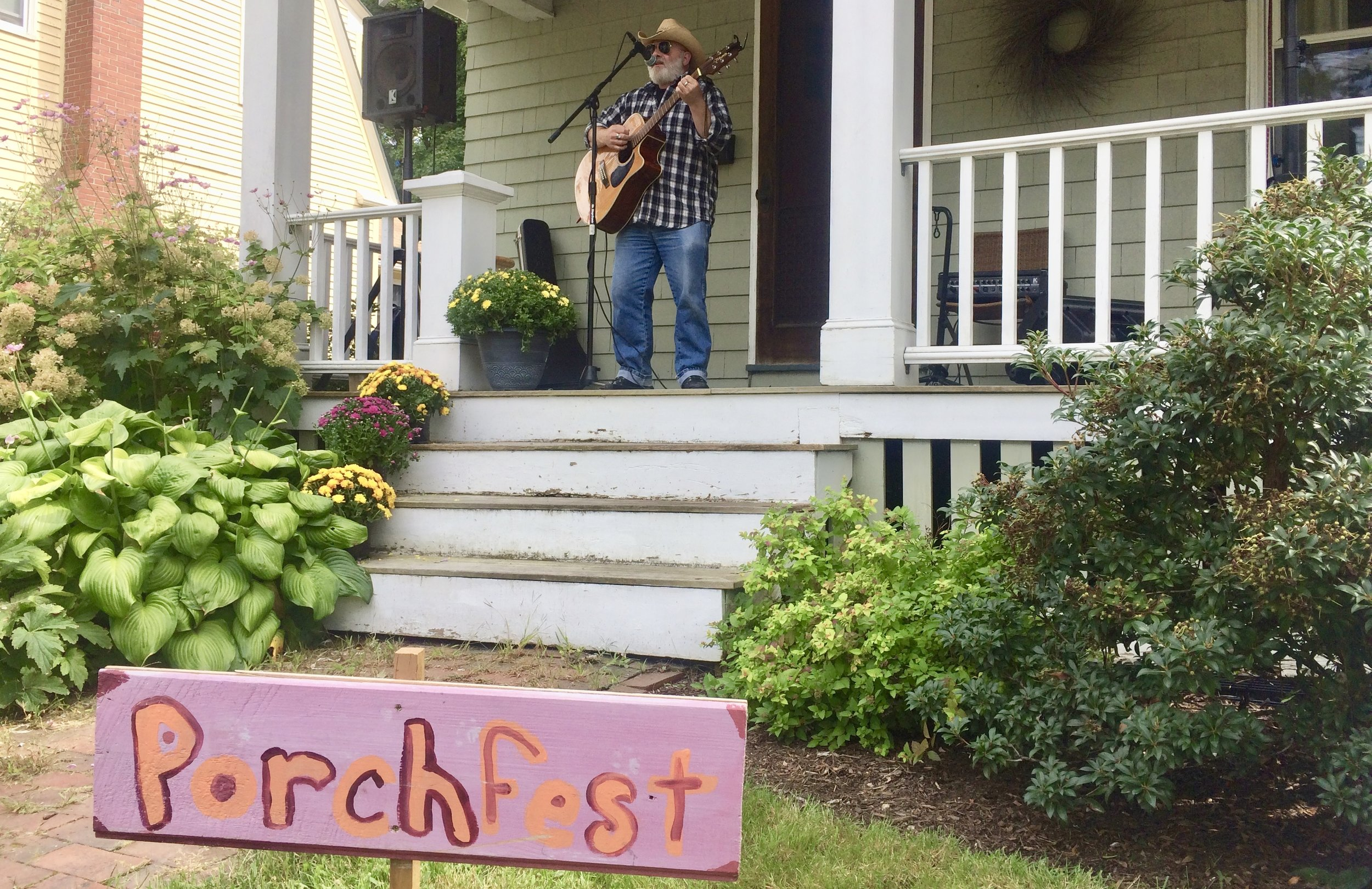 Porchfest! - Our wonderful free music festival on porches and yards throughout the neighborhood
