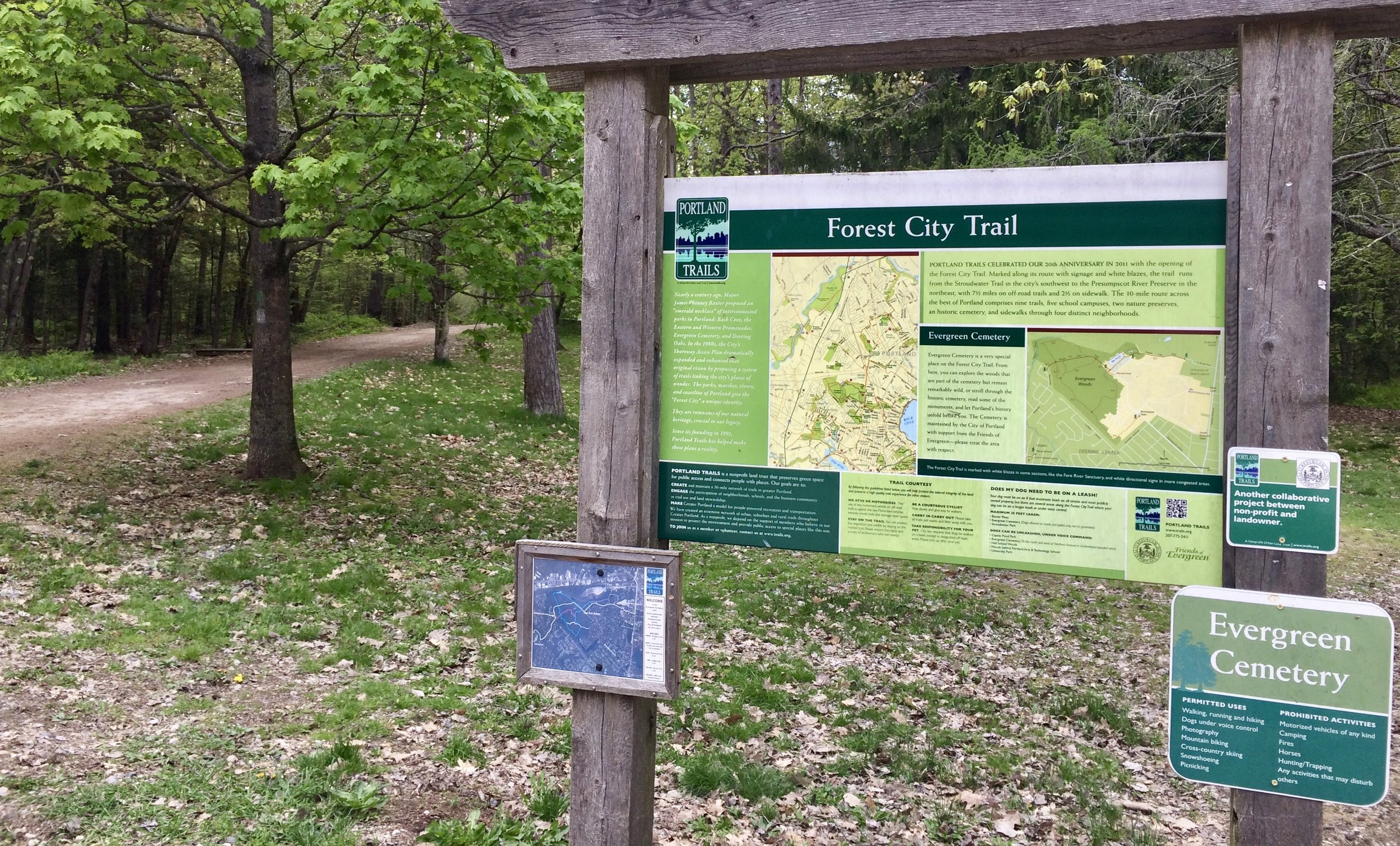 Forest City Trail - In the back of Evergreen Cemetery, this portion of the City-wide trail provides mixed terrain hiking and biking.