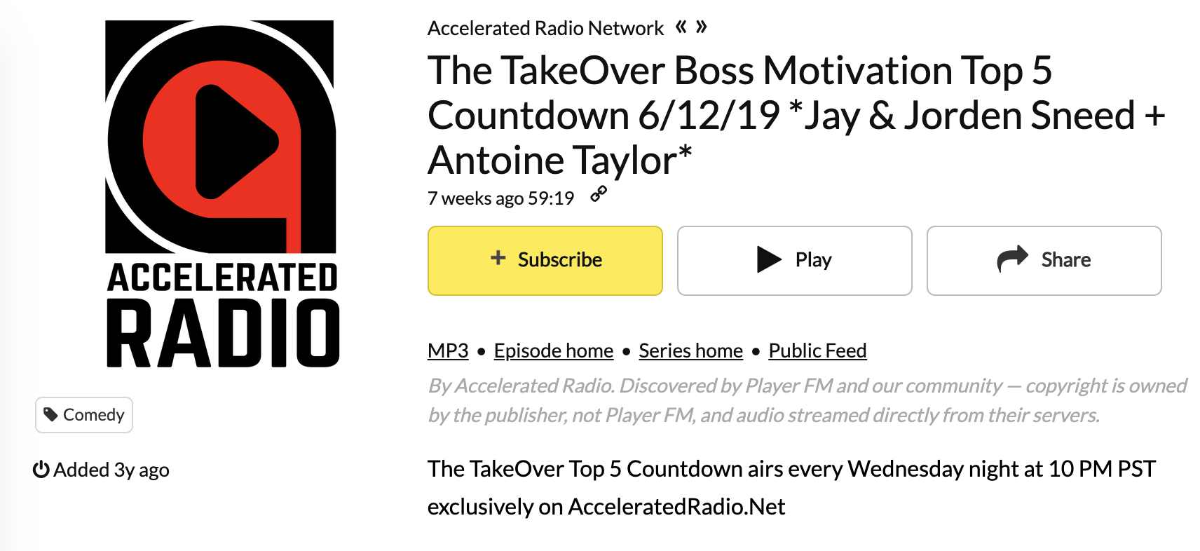 The TakeOver - June 12th, 2019