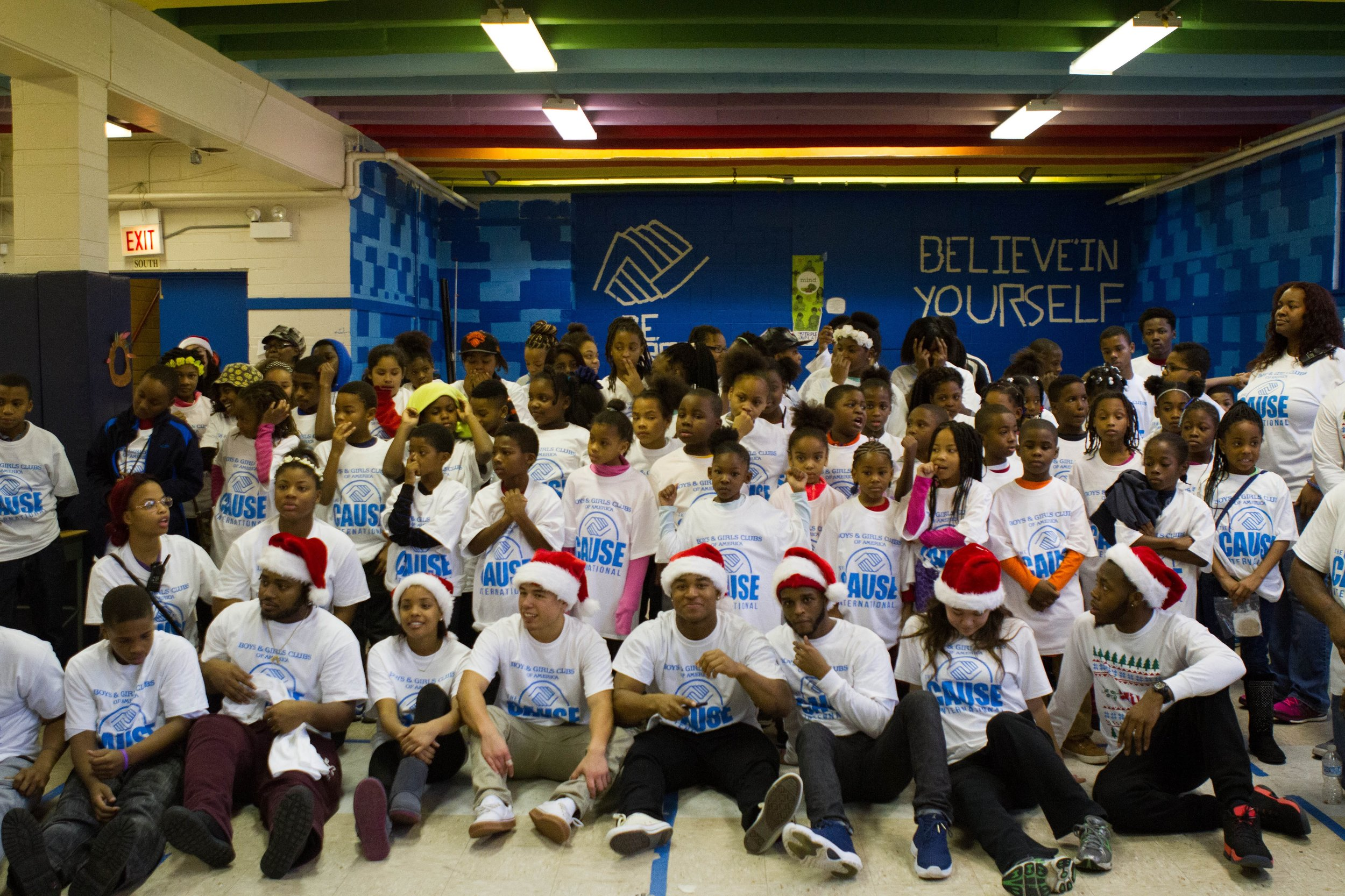 Boys & Girls Club - Chicago - Chicago was our very first giveback. During our universities Christmas break we donated $3,000 in sports equipment, toys & school supplies to the children of the Boys & Girls Club on the south side of Chicago supplying many of the kids with their First Christmas. Not only did we donate the $2,000 dollars in gifts, but shared the experience of a regular day at the Boy's & Girls Club. This included: arts & craft, dance class, gym time, lunch, and school work help.