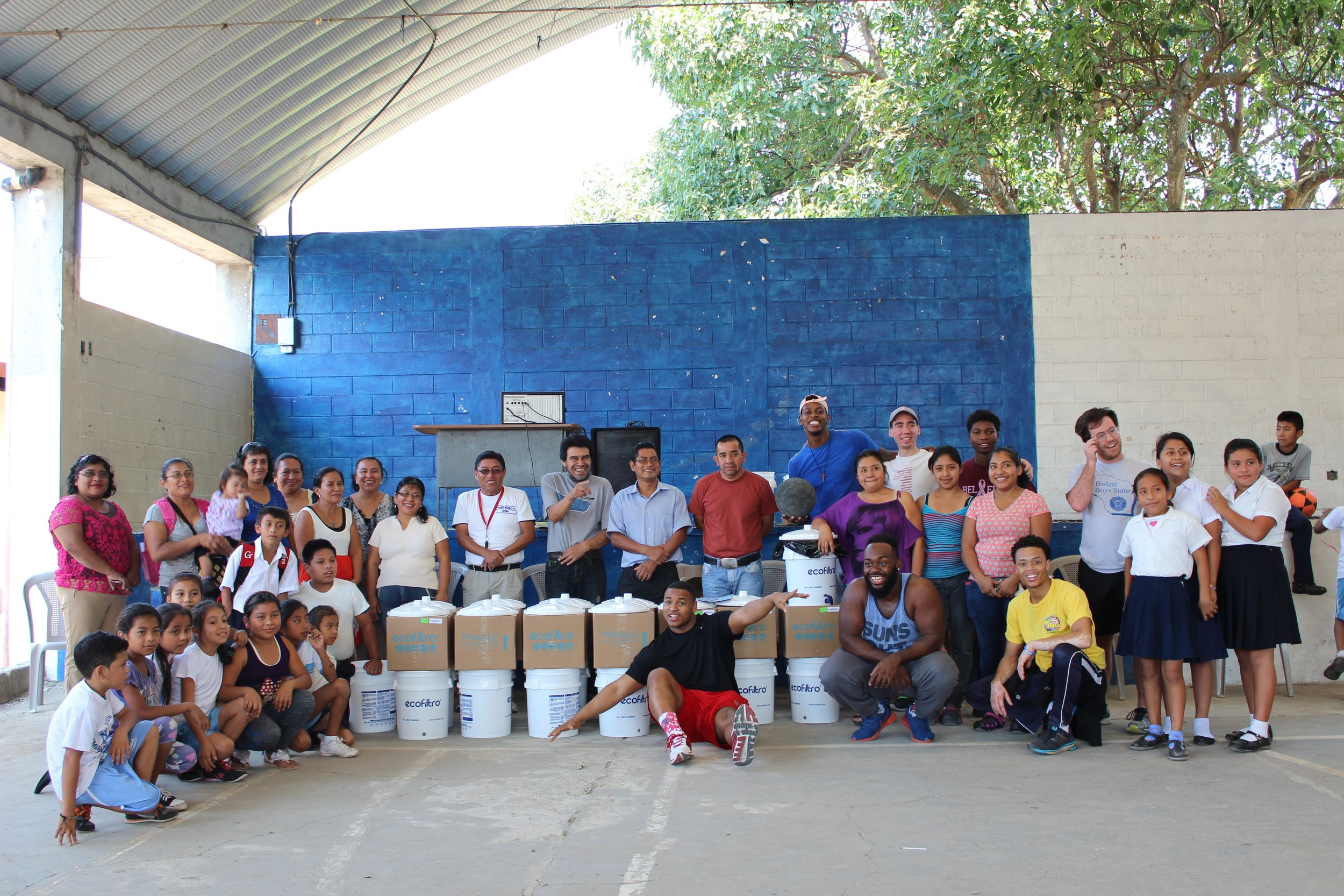 Antigua, Guatemala - Our team joined forces with the water filter company ecofiltro to install water filters in schools of 3 rural villages. This created a clean water source where the water had been causing diseases leading to deaths in the villages. On top of installing water filters our team also donated sports equipment, school/art supplies and toys to an afterschool program in one of the villages. Everything giving back totals just over $5,000