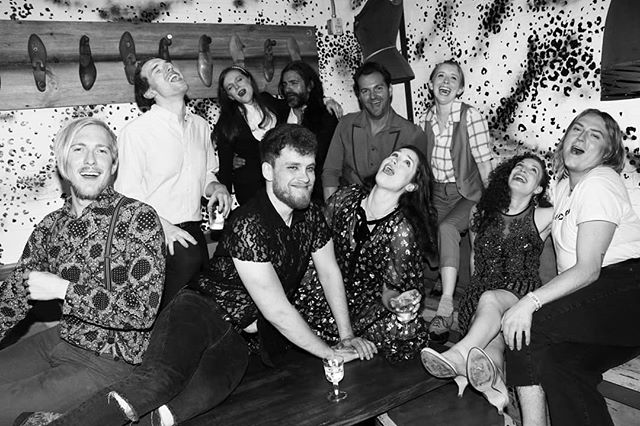 Opening Night Shenanigans with the Company & Creators of The Cooping Theory 1969. Now Playing. Join Us. 📸 Credit: @janiewillison #opening #night #party  #theatre #immersive #nowplaying #nyc #TheCoopingTheory1969 #experience #spooky #festive #dark #halloween #edgarallanpoe