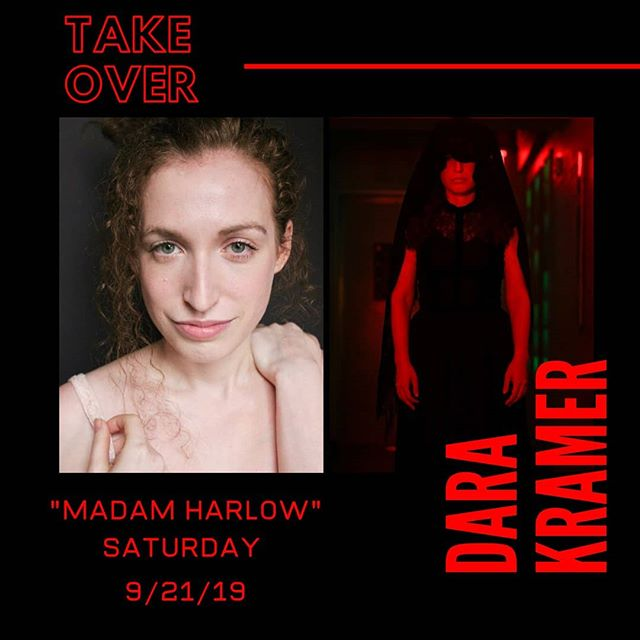 """MEET OUR CAST: Our Medium """"Madam Harlow"""" played by Dara Kramer will Take Over tomorrow! Follow her as she navigates her way through a 2 show day. (See what we did there) . . . . #knock3xs #instagram #story #takeover #TheCoopingTheory1969 #immersivetheatre #nyc #poseidontheatrecompany"""