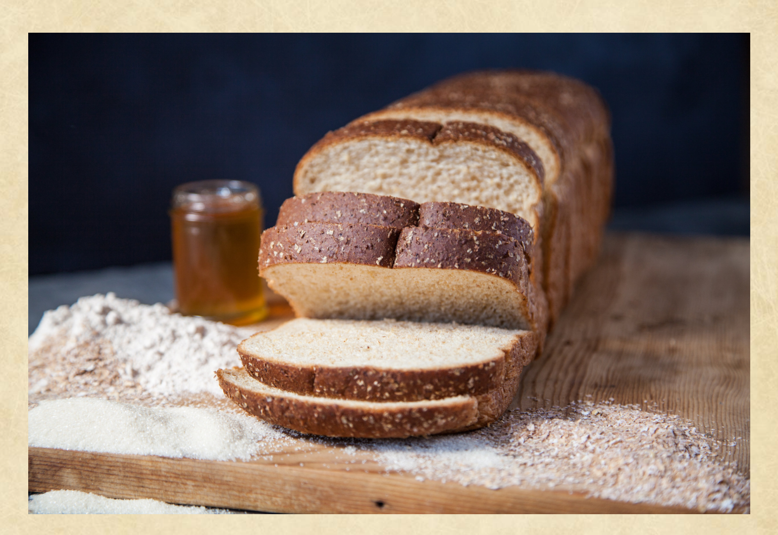 Loaf of sliced Koepplinger's All Natural Non-GMO bread