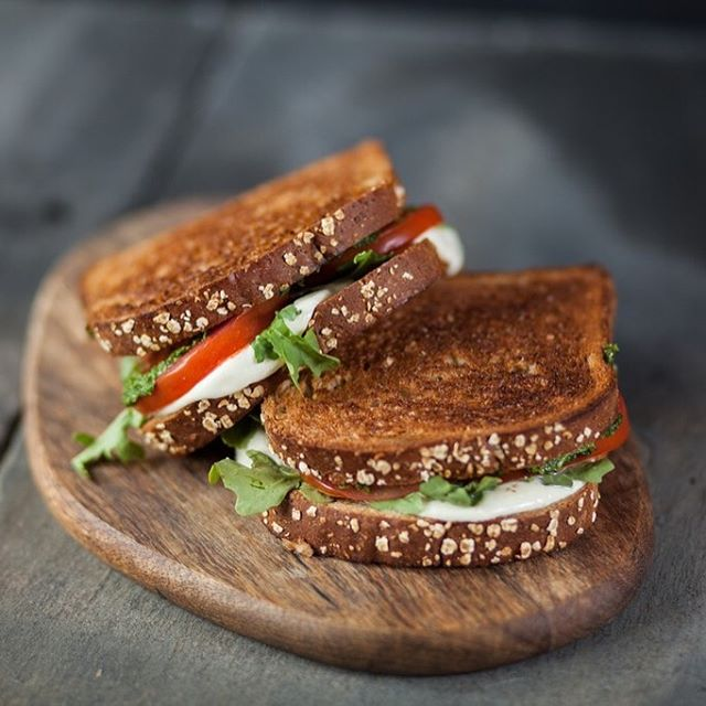 Our Healthy Whole Grains bread has 11 grams of whole grains in each slice and is built to serve as the backbone for your favorite sandwiches and toasts. Try layering pesto, mozzarella, and tomato between two slices for a healthy and hearty lunch.