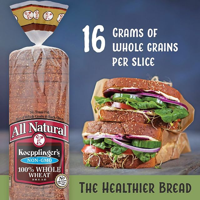 Our 100% Whole Wheat Bread takes advantage of all the good stuff in whole wheat, creating a bread that packs more nutrition and flavor into each slice!