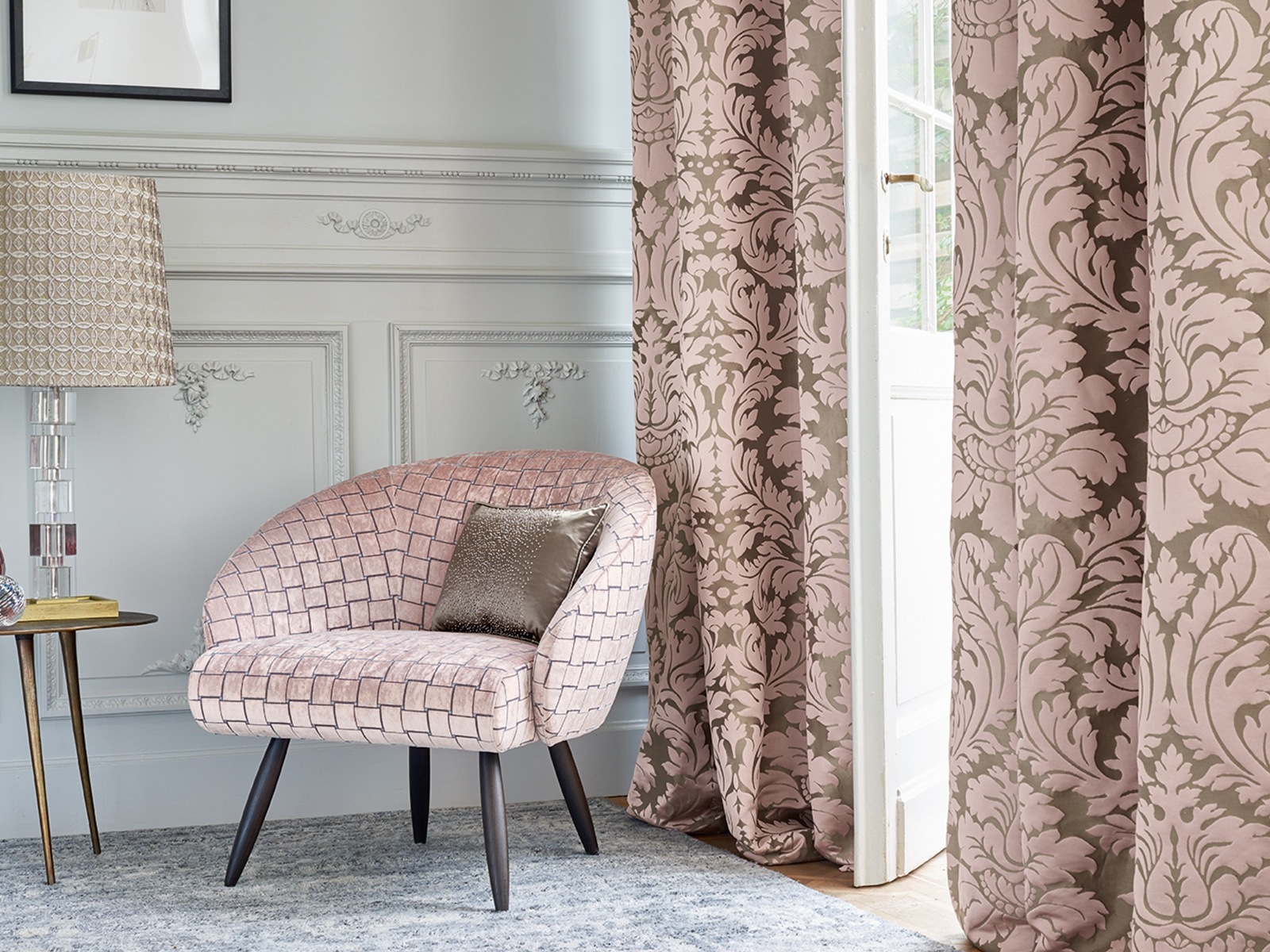 London-Fabric-Company-Ardecora-luxurious-pink-grey-flower-damask-upholstery-square-cut-velvet-curtain-fabrics.jpg