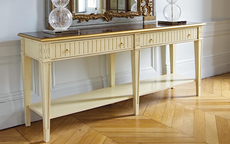 Grange stendhal - Ezt a bútort láthatod a S/ALON Budapesten ősszel, a választott színekkel teheted egyedivé, a részleteket TE válogathatod meg! Két fiókjába evőeszközeidet, finom étkező textiliáidat rendezheted el!A bútor méretei: 185 x 78 x 47 cm