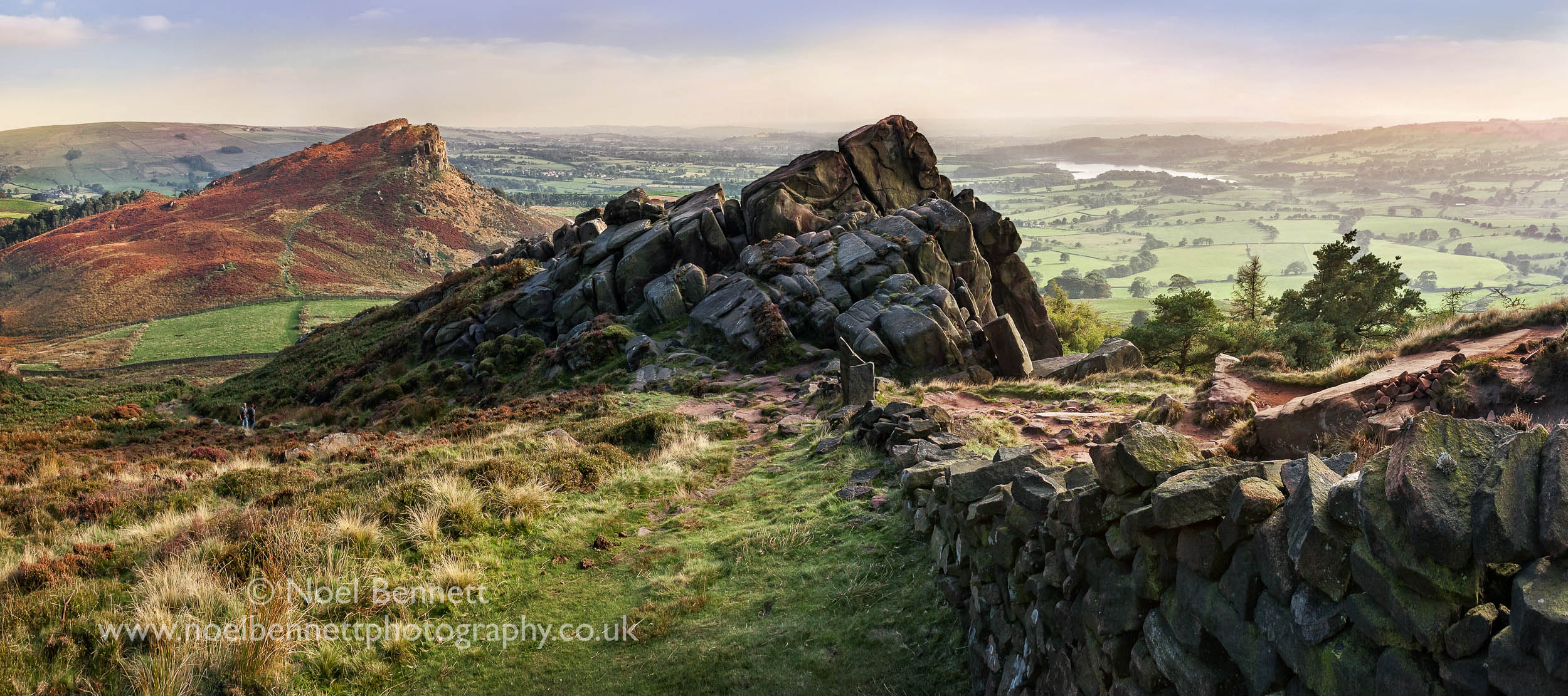 'Evening Light Over the Roaches'