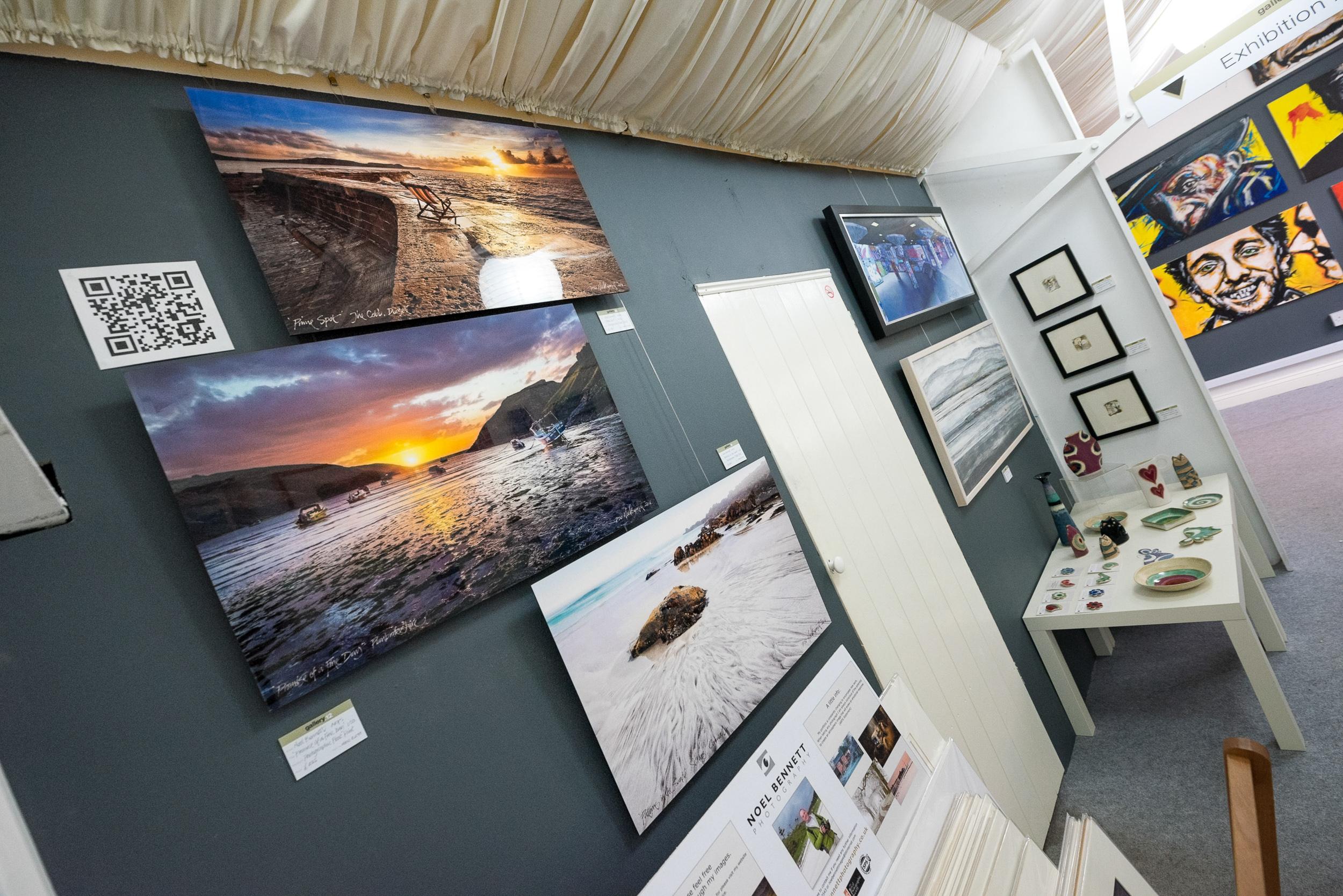 Float Prints on Gallery Display