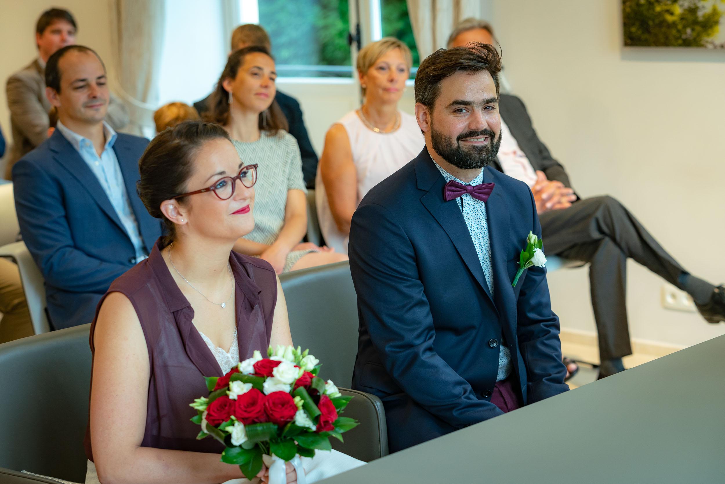 Mariage civil réalisé par un photographe de Bruxelles