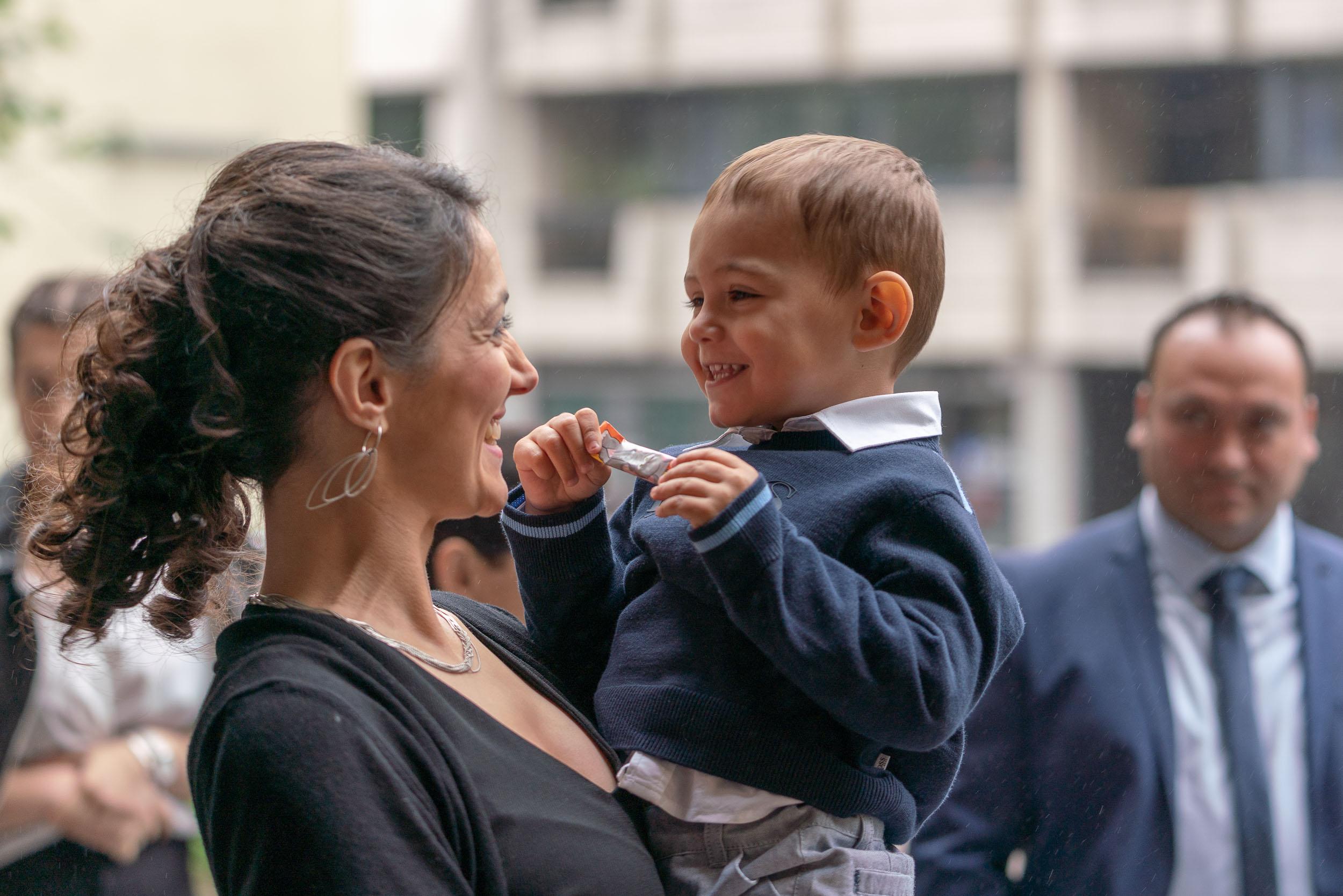 Photo de bapteme réalisée à Bruxelles par un photographe d'é