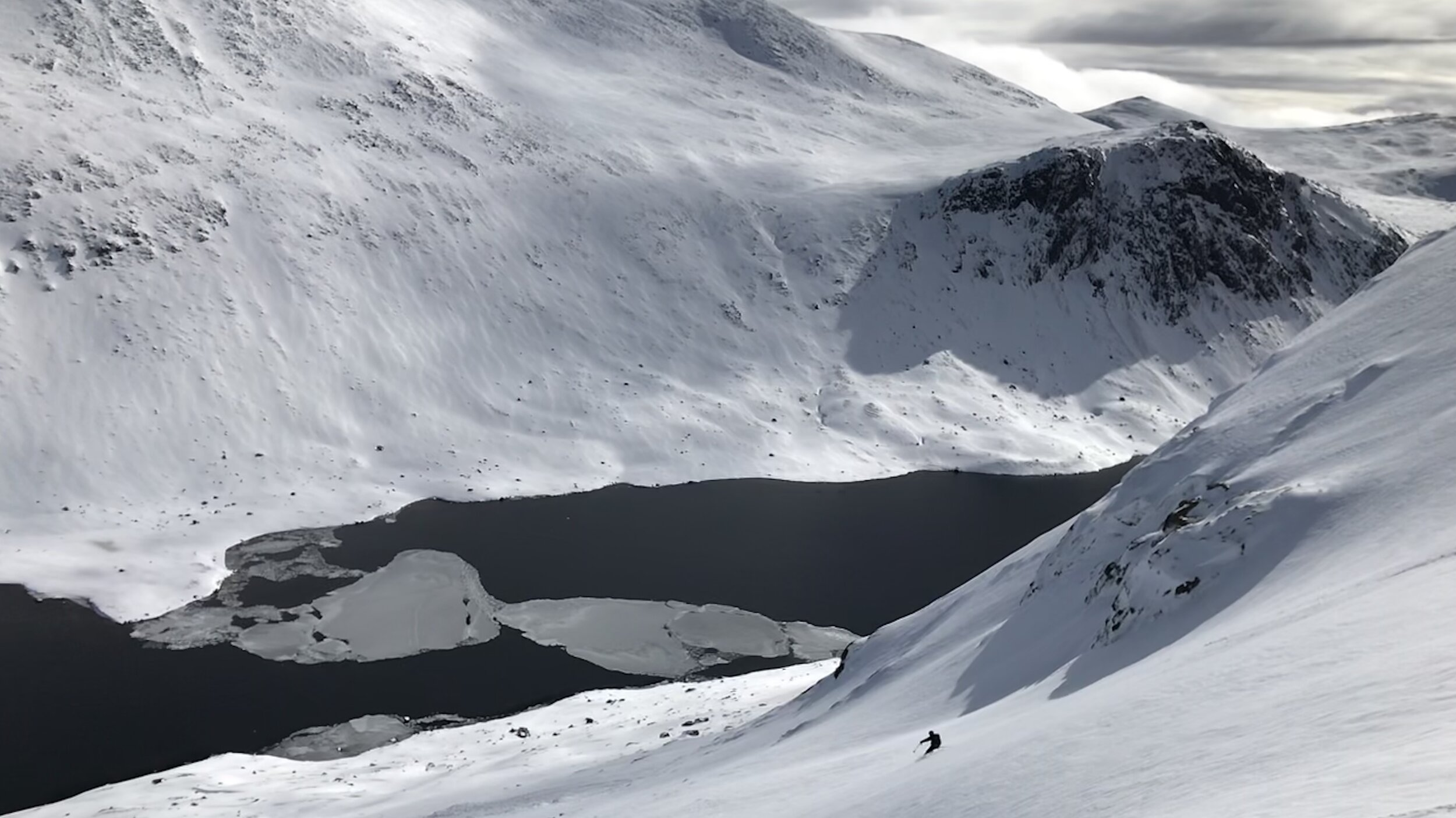 Ski Touring in the Cairngorms - Skier David Anderson Spring 2019