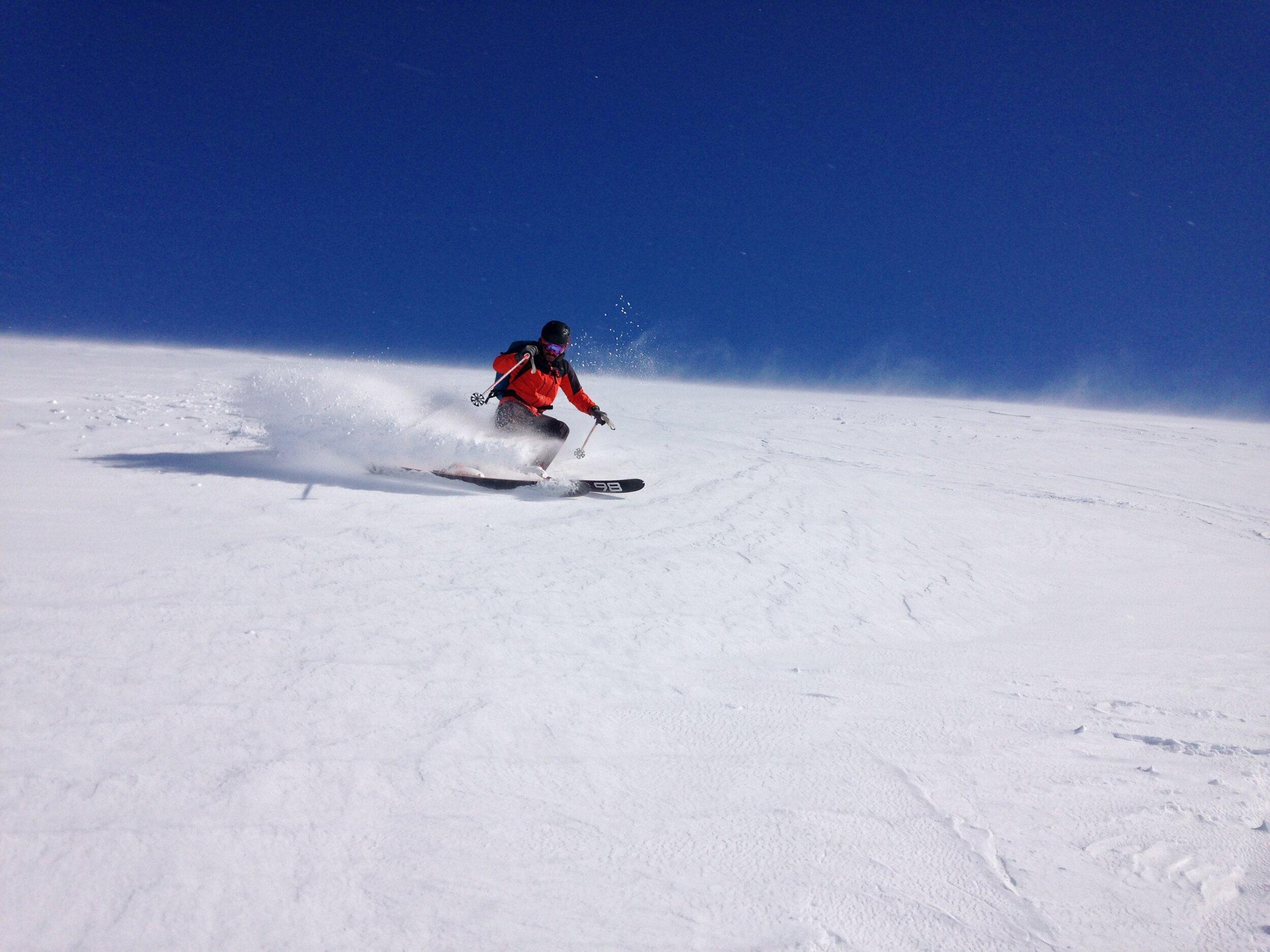 Ski touring near Glenshee - skier Philip Ebert Spring 2018
