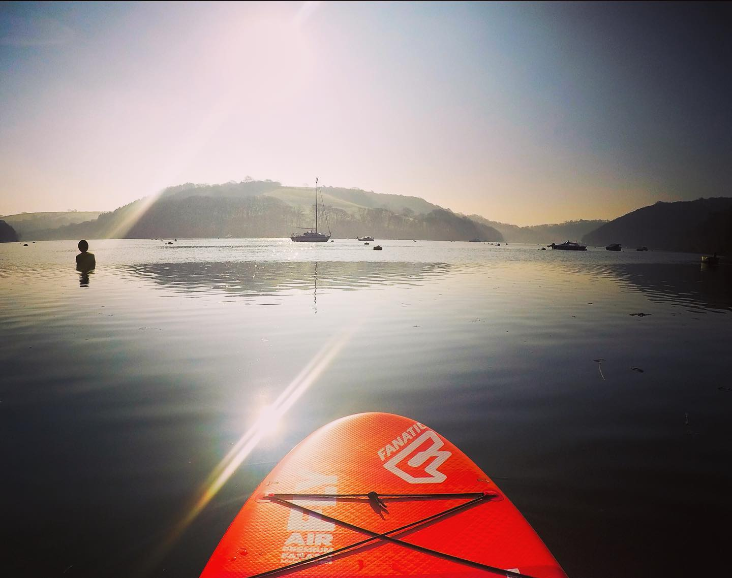 Stunning morning SUP at Golant.