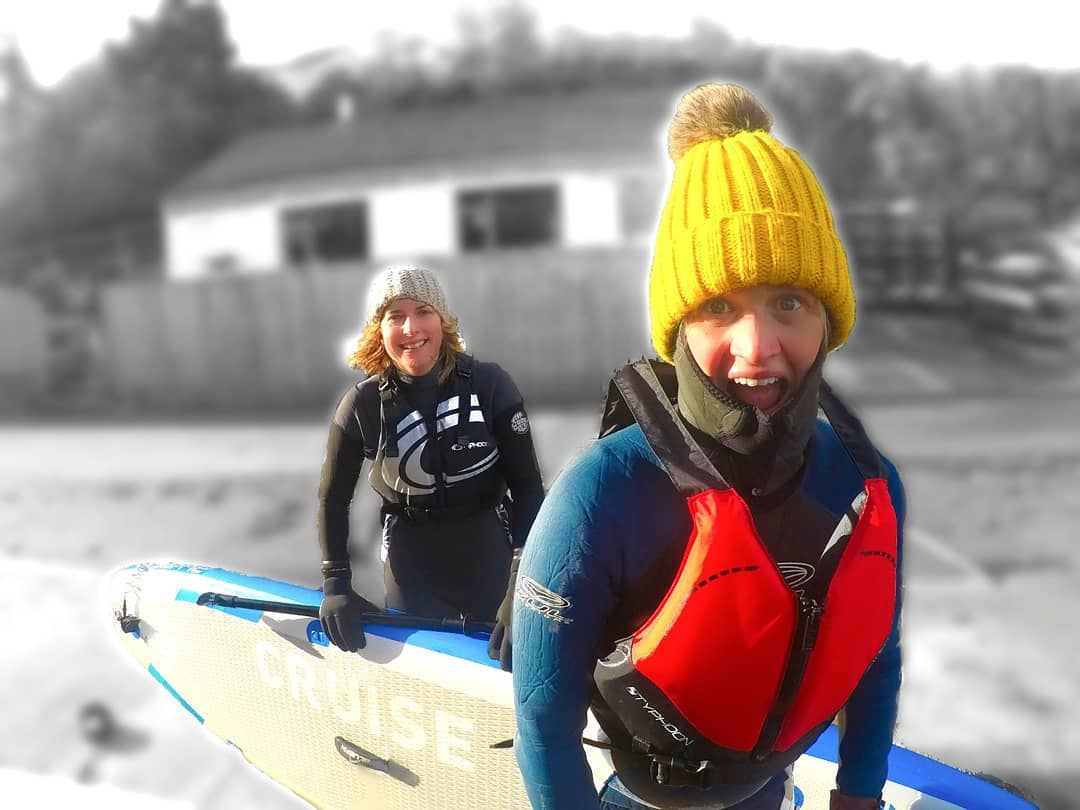 Winter SUP with hardcore paddlers