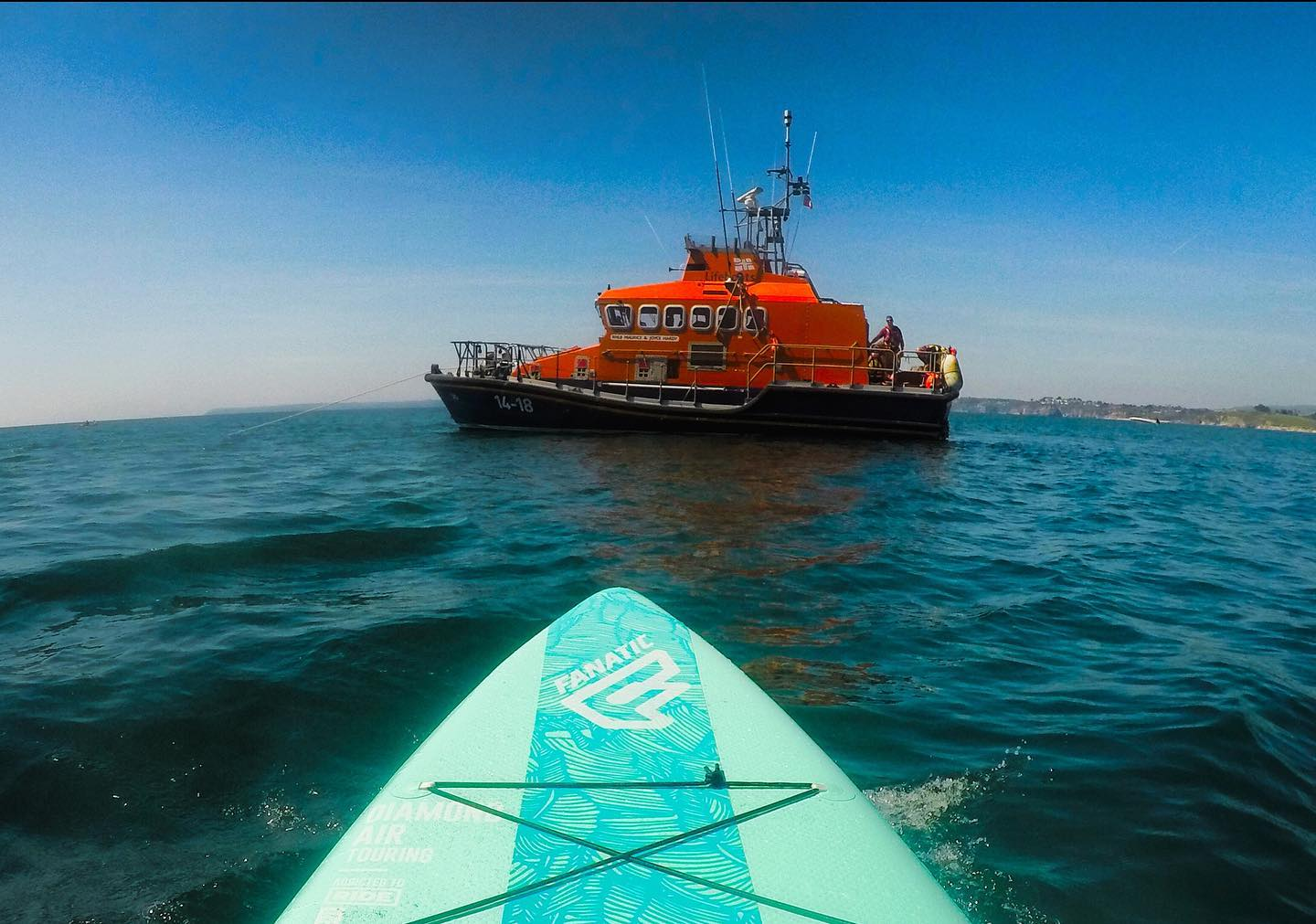 Meeting the RNLI crew on the water (no I wasn't being rescued…)