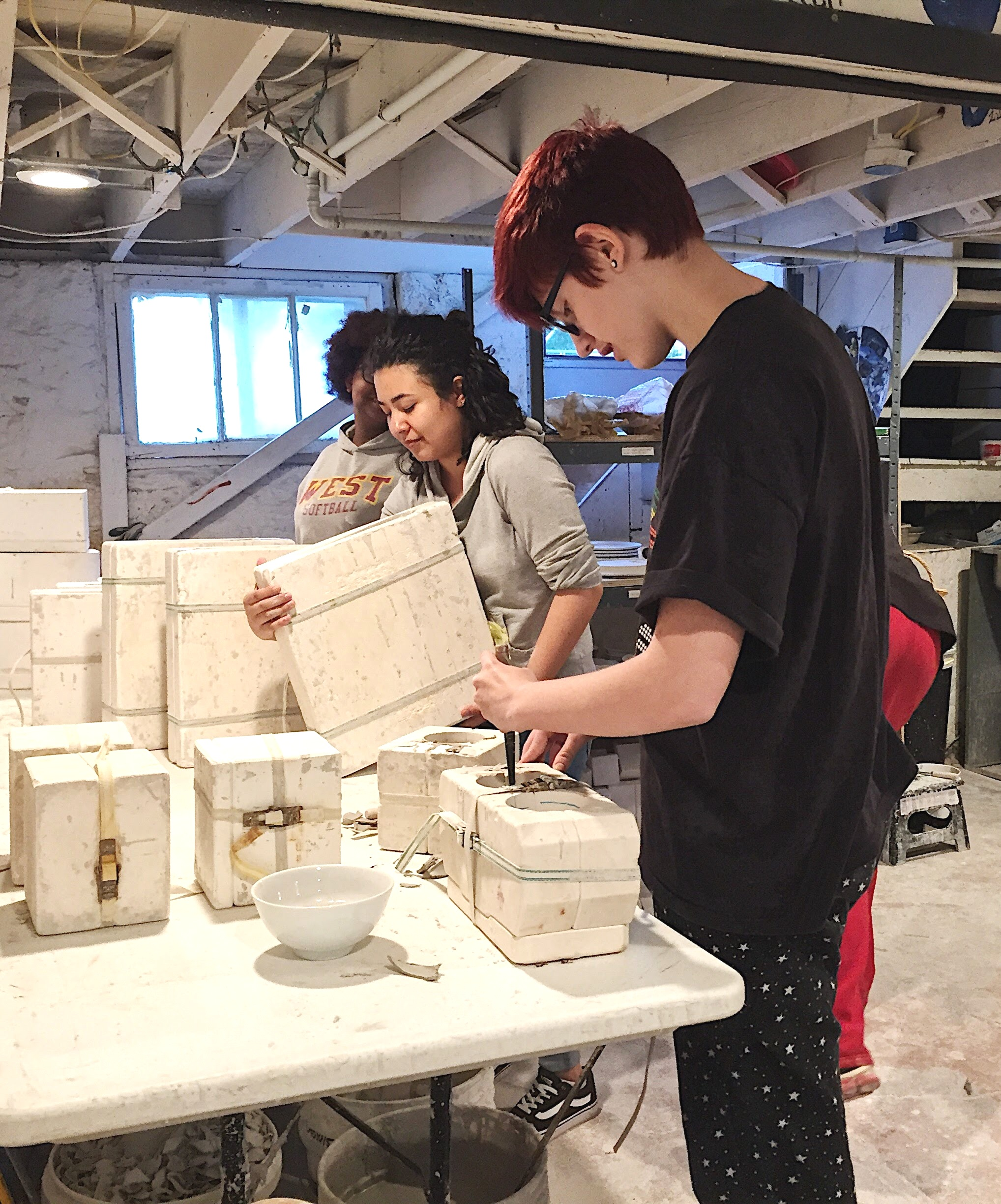 PotteryWorks - A community of hope in Wichita, KS hiring teenagers to discover work, creativity, and accountability through the medium of ceramics since 2015.