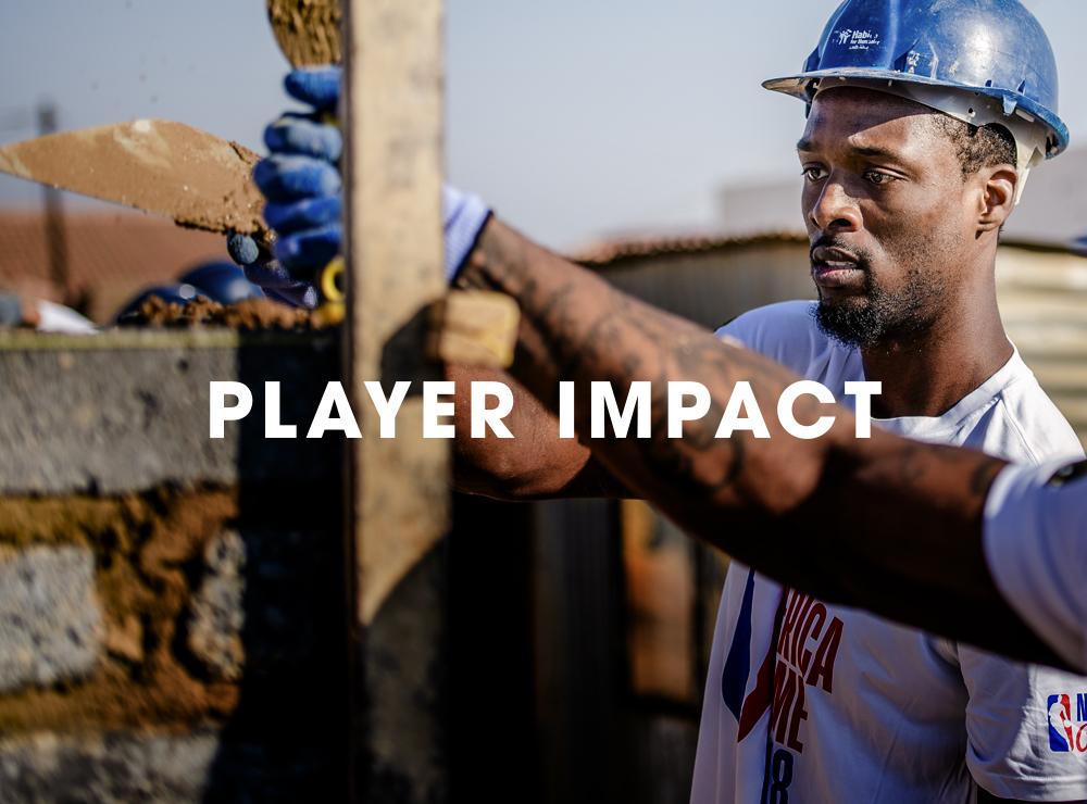 The NBPA Foundation provides an array of support services and technical training to players around the world to help them develop a sustainable strategy and structure for their giving.