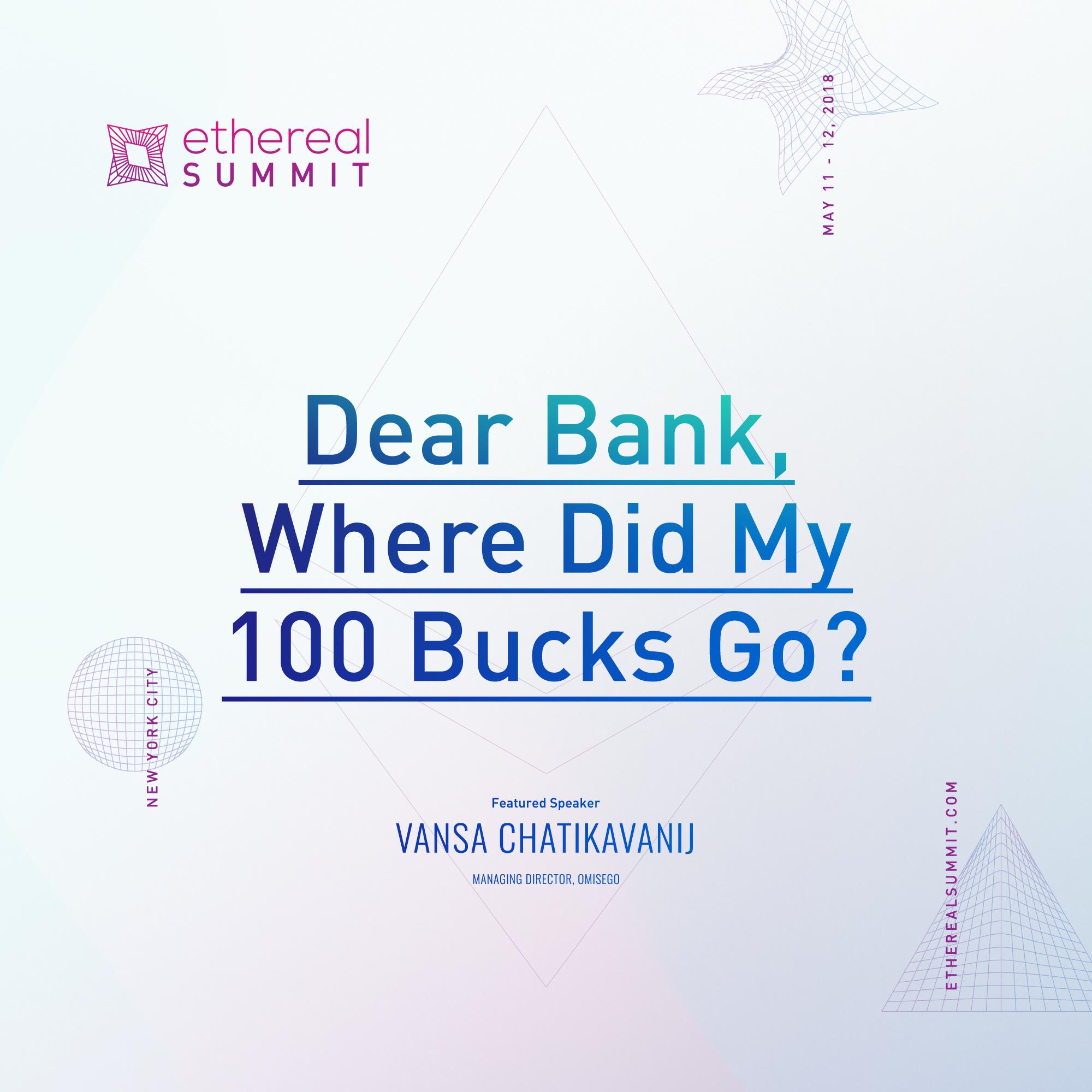 Dear Bank, Where Did My 100 Bucks Go?