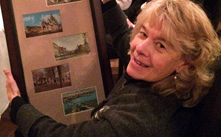 The League presented Tania with a framed collection of postcards of historic buildings around the state at her retirement luncheon.
