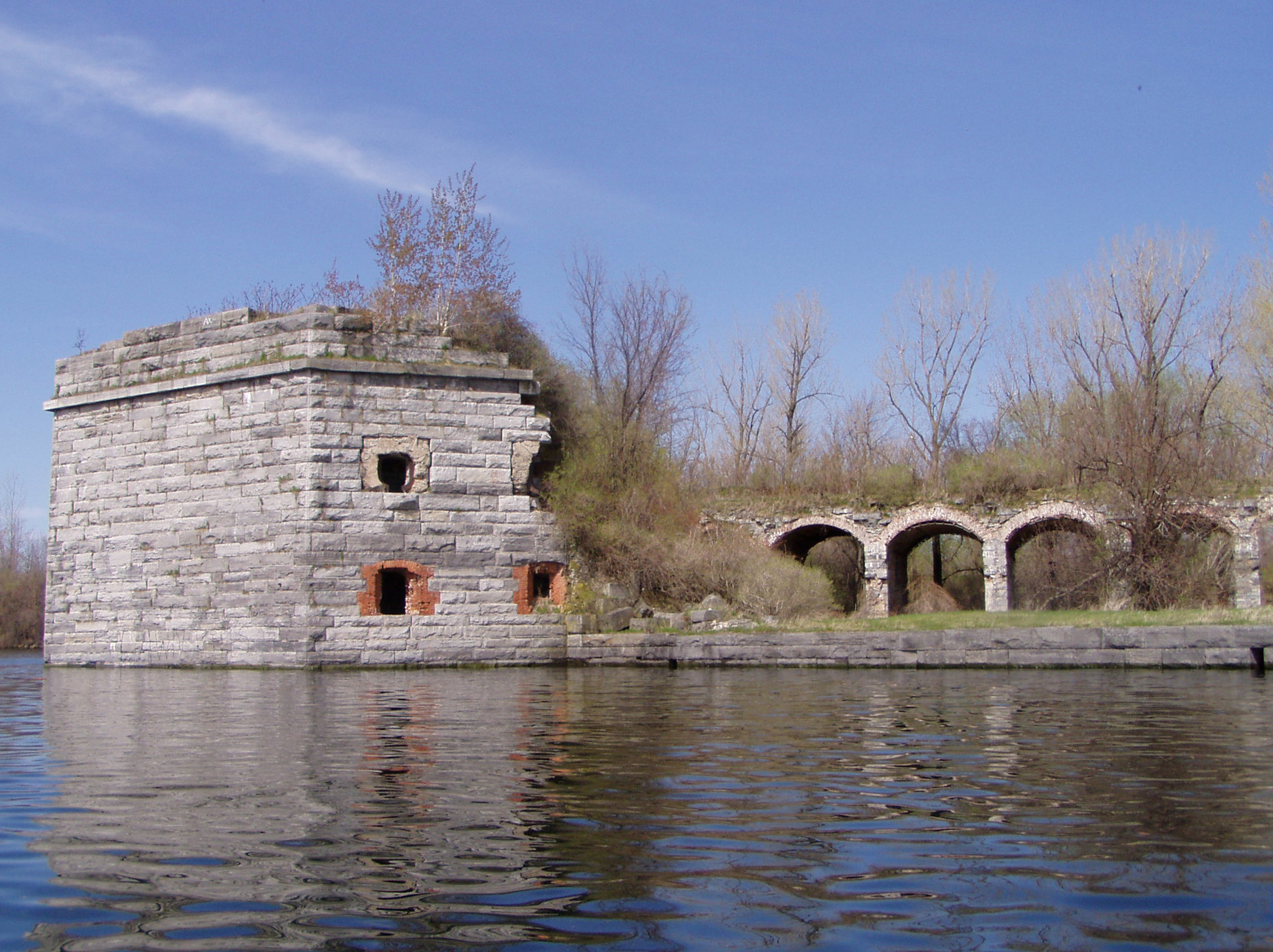 Fort Montgomery, Rouse's Point Image #4-Fort Montgomery east face from lake Jim Millard photo.jpg