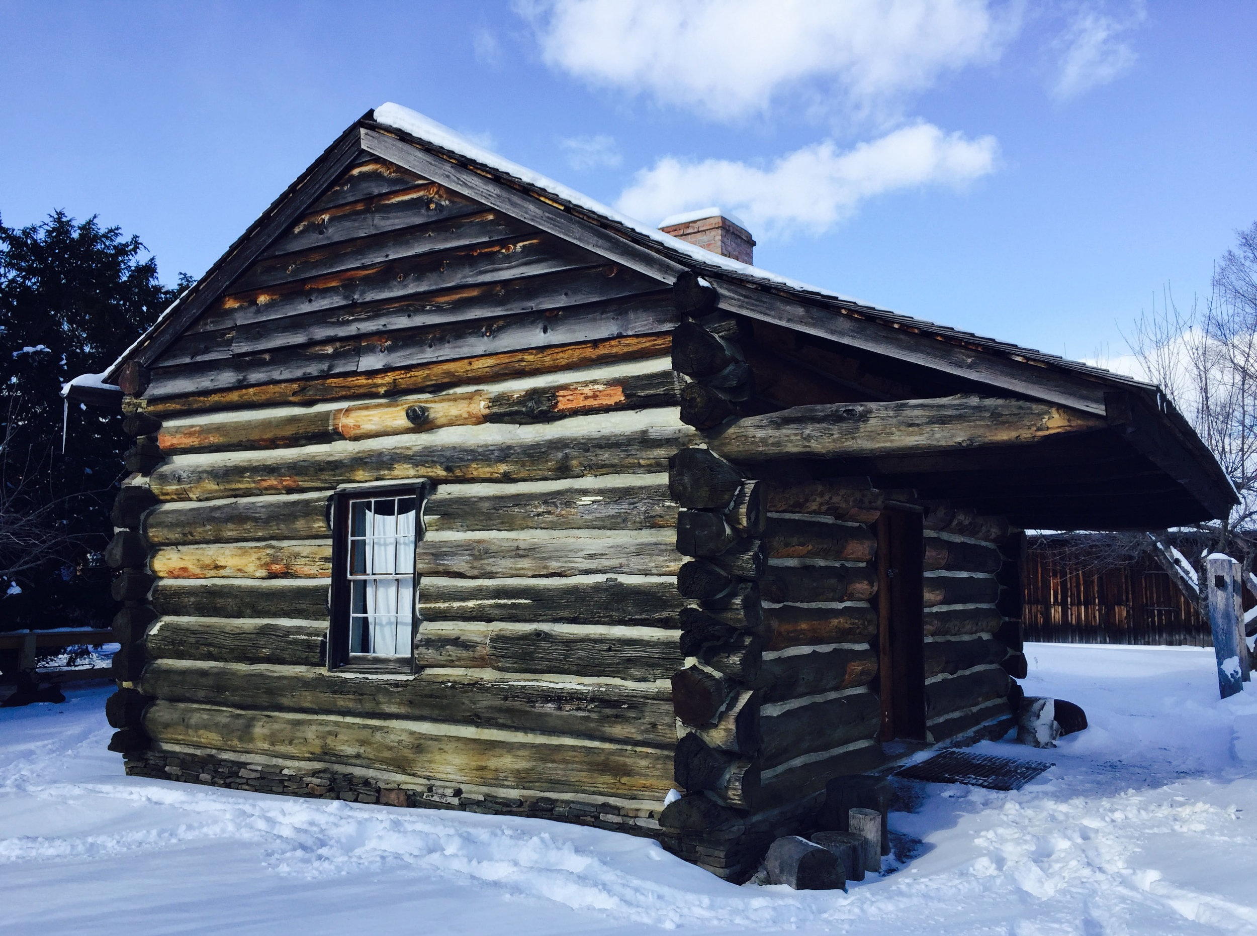 Corning/Painted-Post Historical Society, The Wixon Road Log Cabin