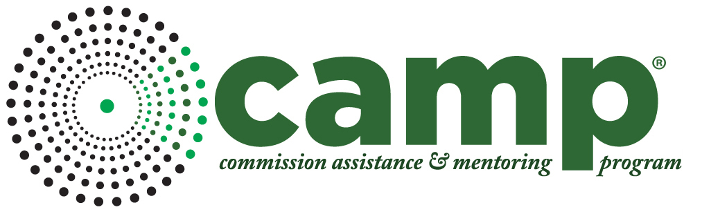 commission assistance and mentoring program CAMP logo