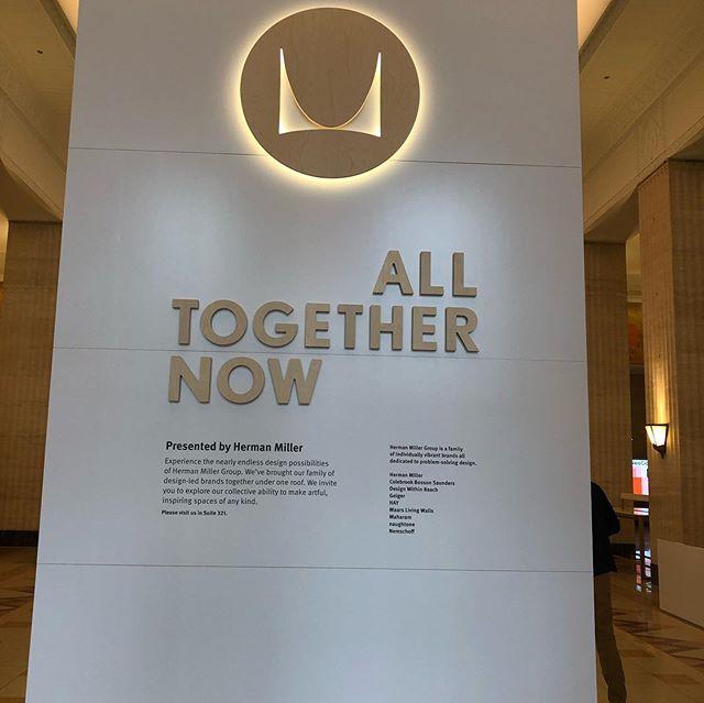 Herman Miller Welcomed us to Neocon. Great display.