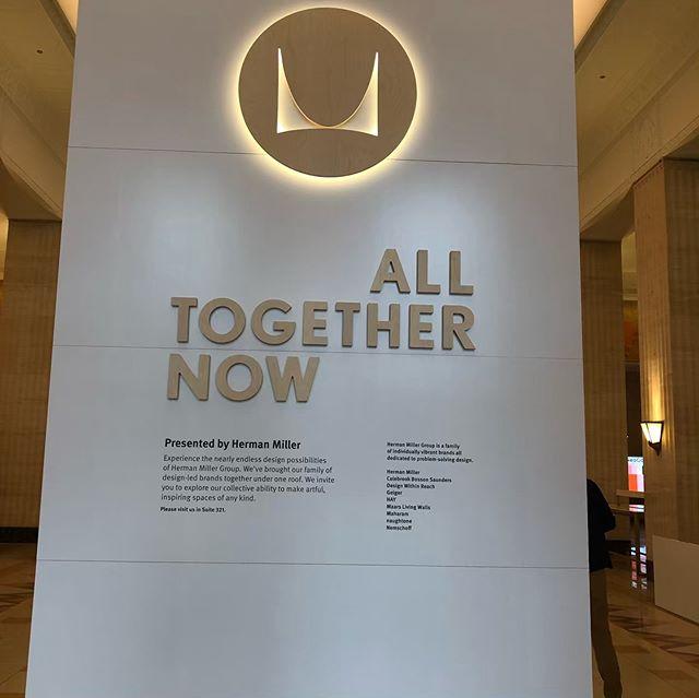 Herman Miller Rocks the Entrance to Neocon #StallworthEnterprises #DesignAsBuilt #hermanmiller