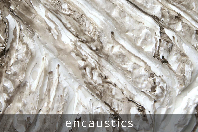 encaustic painting & sculpture