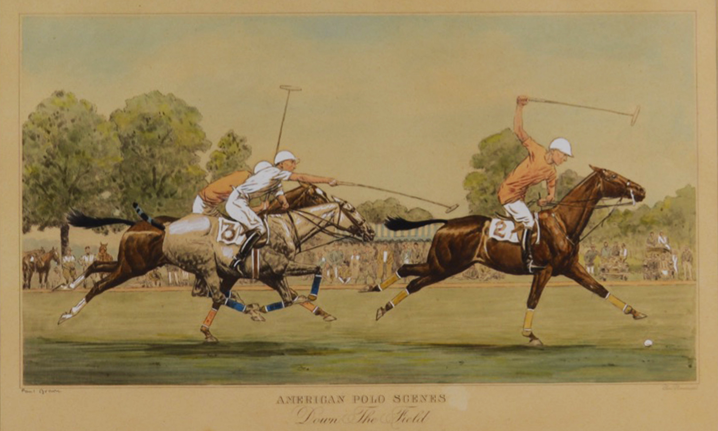 Derrydale Polo Prints, Set of 4 by Paul Brown