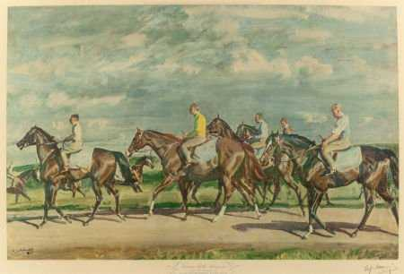 Pencil Signed Munnings