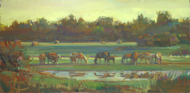 HINZ Late Summer Grazing 12  x 24 2008.jpg