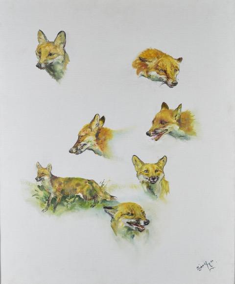 Michael Lyne Studies of Foxes.jpeg