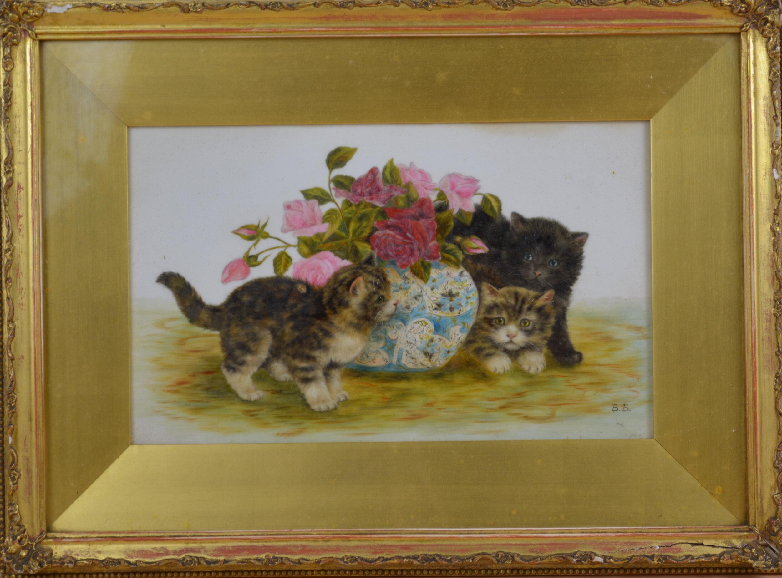 Bamber, Bessie Kittens with Roses.jpg