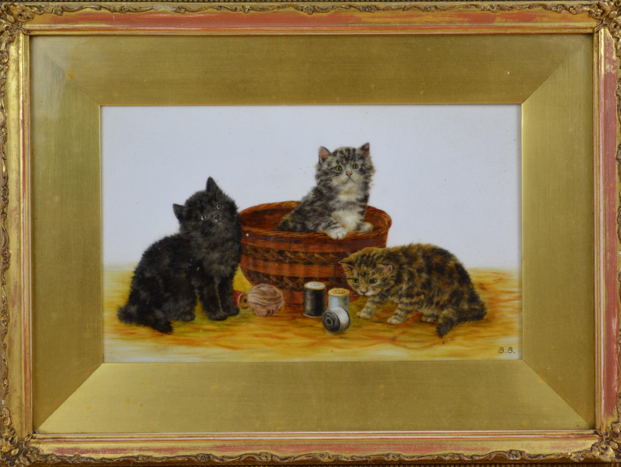Bamber, Bessie Kittens with Basket.jpg