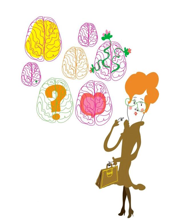 Illustration Personal development / employer branding